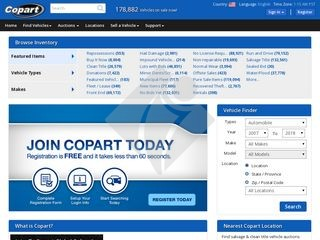 Copart Home Page >> Copart Clone How To Create A Website Like Copart